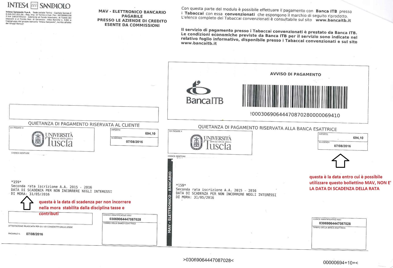 Unitus info su tasse pagamenti e isee - Scadenze di pagamento ...